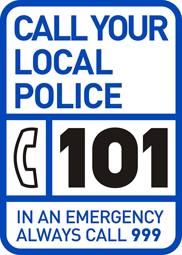 For non emergency matters call 101
