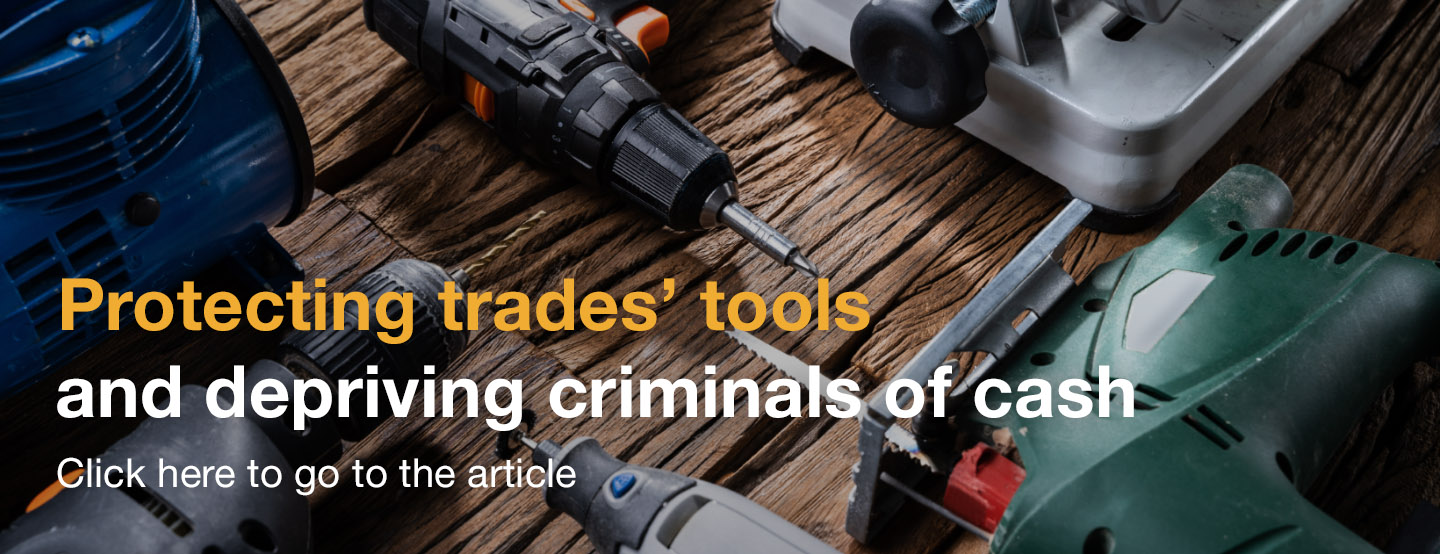 Protecting trades' tools and depriving criminals of cash