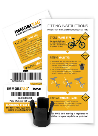 ImmobiTag RFID Bike Tag (Solid Frame)