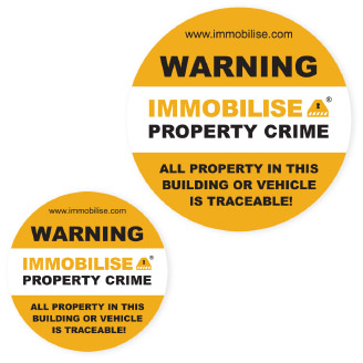 Immobilise Window Stickers image